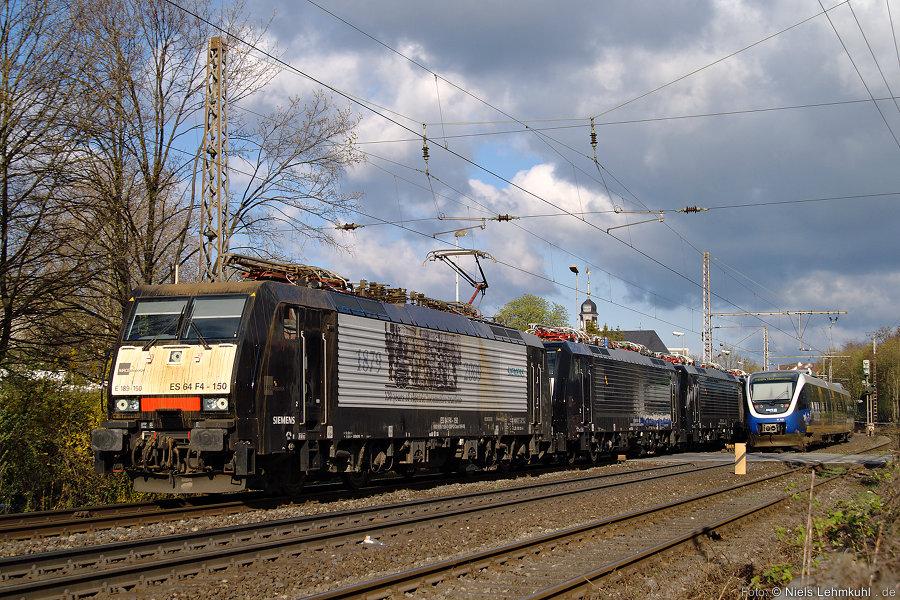 E189 150 mit 152 153 und 155 in Paderborn
