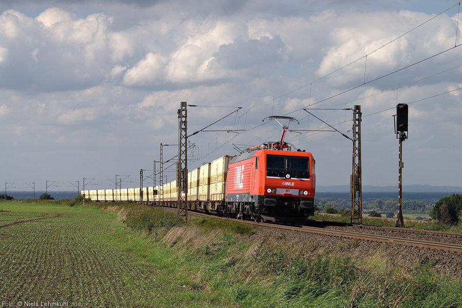 WLE 81 (189 801) mit Bierzug im Benhauser Bogen