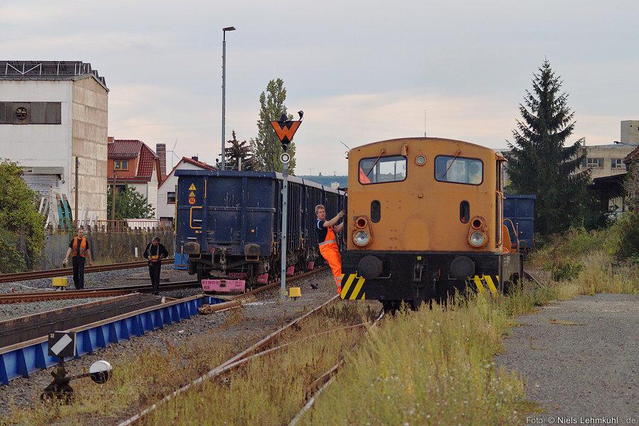 HSB Rollbock-Verladung in Nordhausen