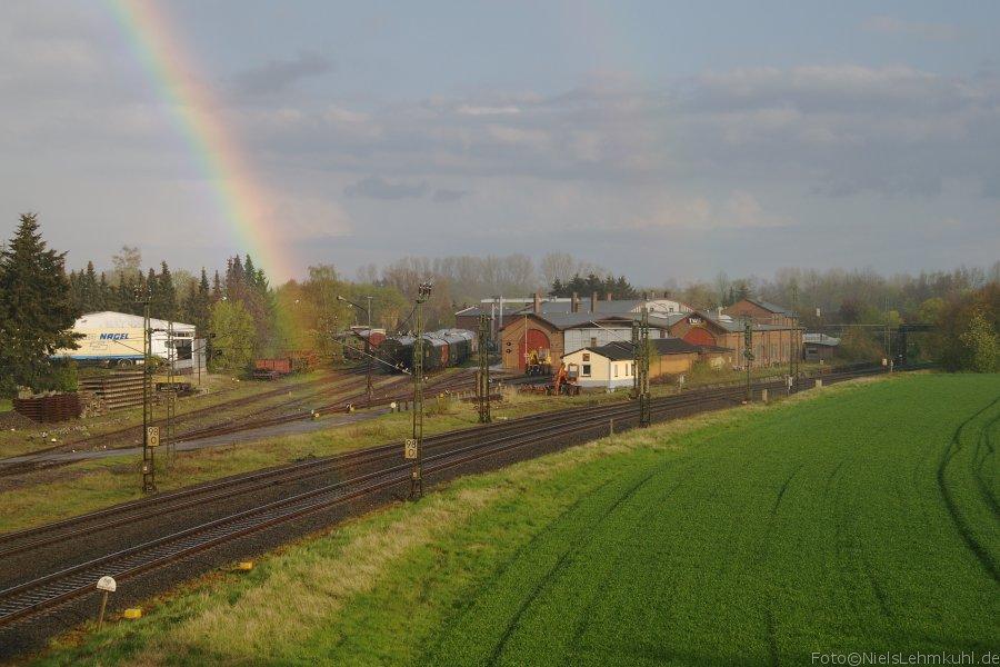 Regenbogen am TWE-Werk Lengerich