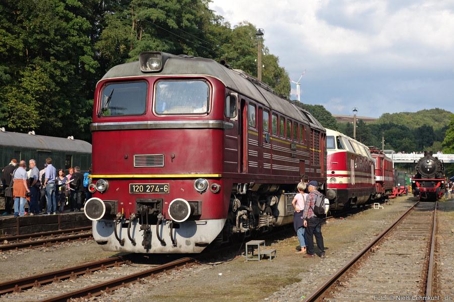 120 274 ausgestellt im Zechenbahnhof Piesberg