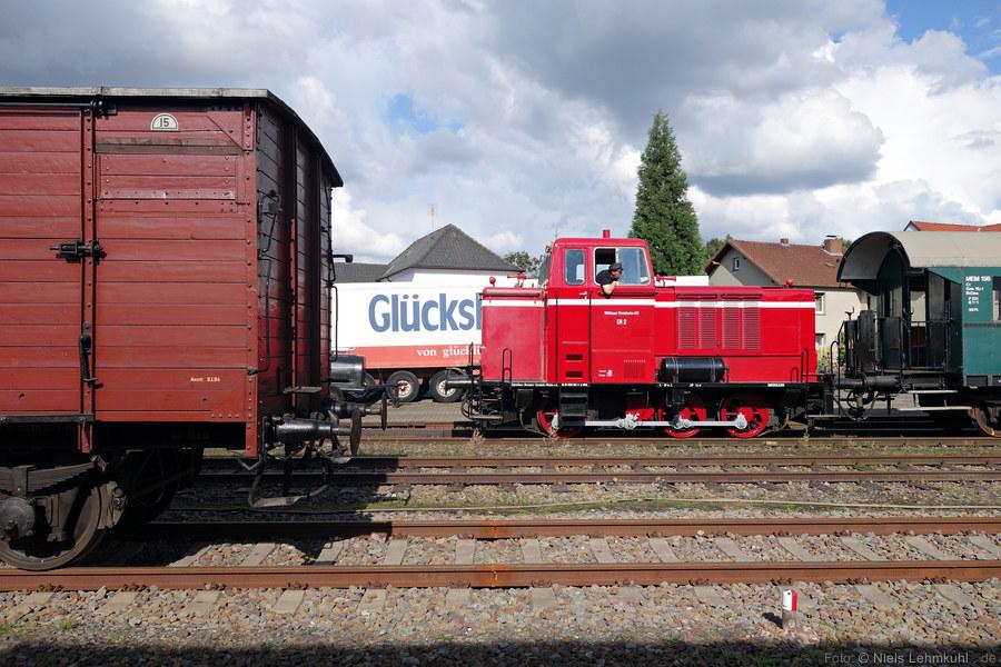 Diesellok DL2 rangiert in Preußisch Oldendorf
