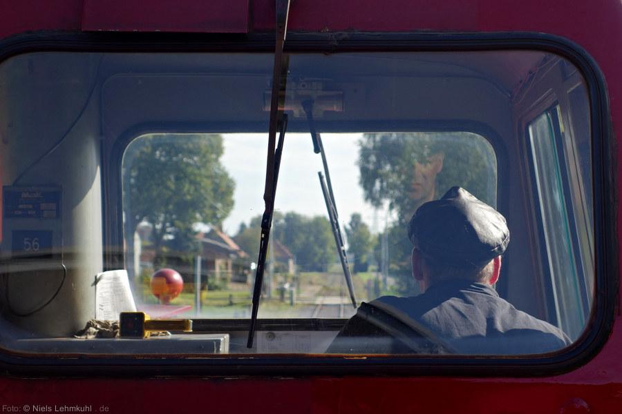 Dem Lokführer über die Schulter geschaut.