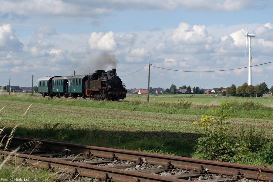Stettin 7906 mit Kleinbahnzug bei Preußisch Oldendorf