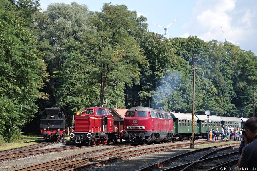 V160 002 im Zechenbahnhof am Piesberg