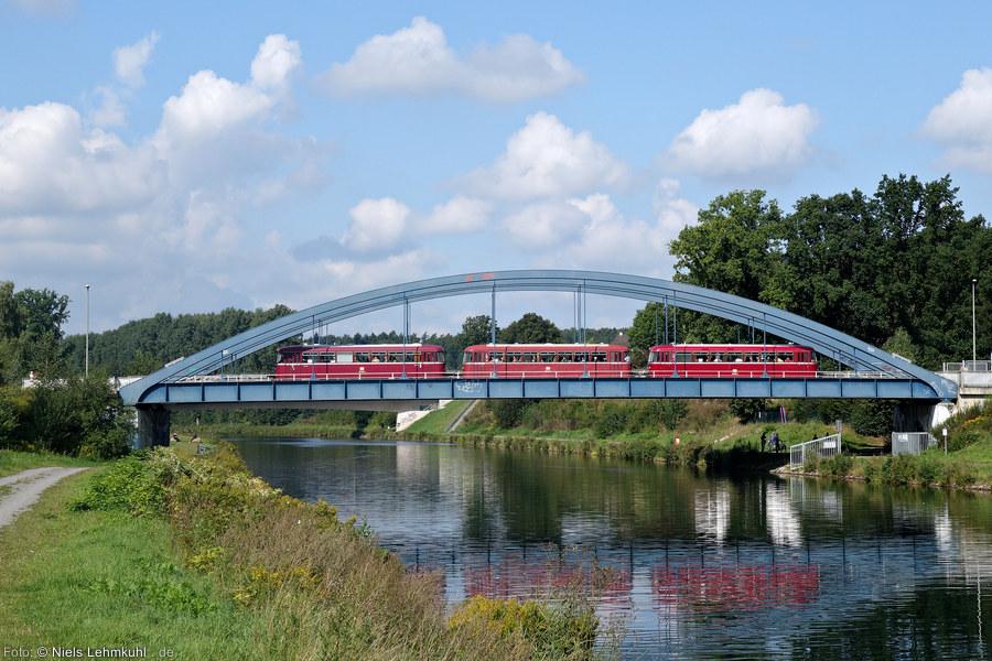 VT98 auf der Kanalbrücke am Piesberg in Osnabrück