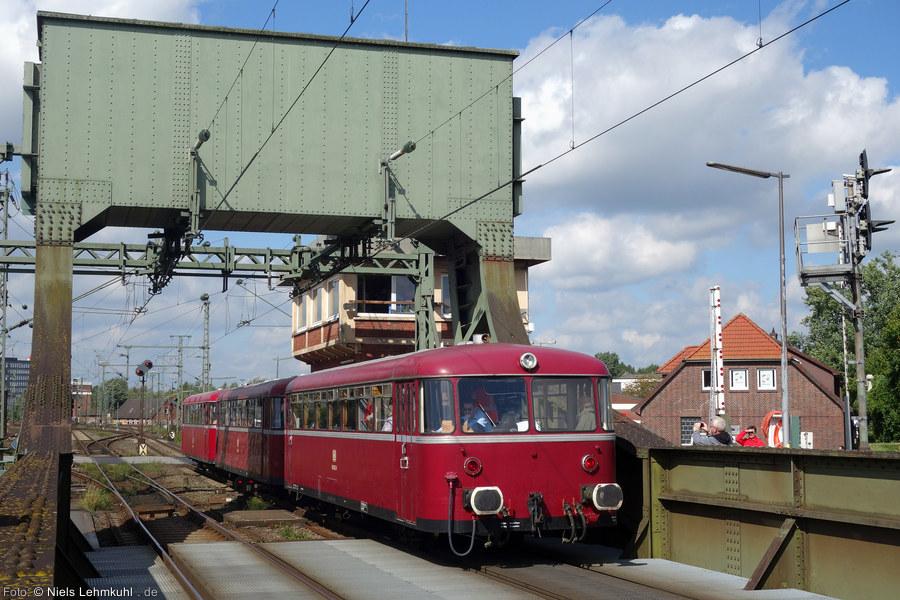 VT98 in Oldenburg auf der Huntebrücke