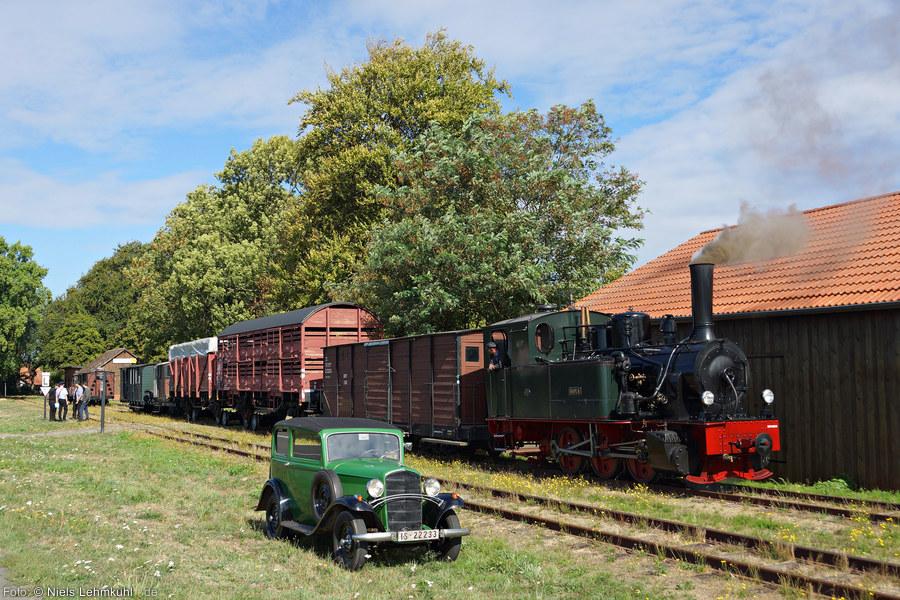 Dampflok Hoya mit Güterzug in Heiligenberg 2018-09-09