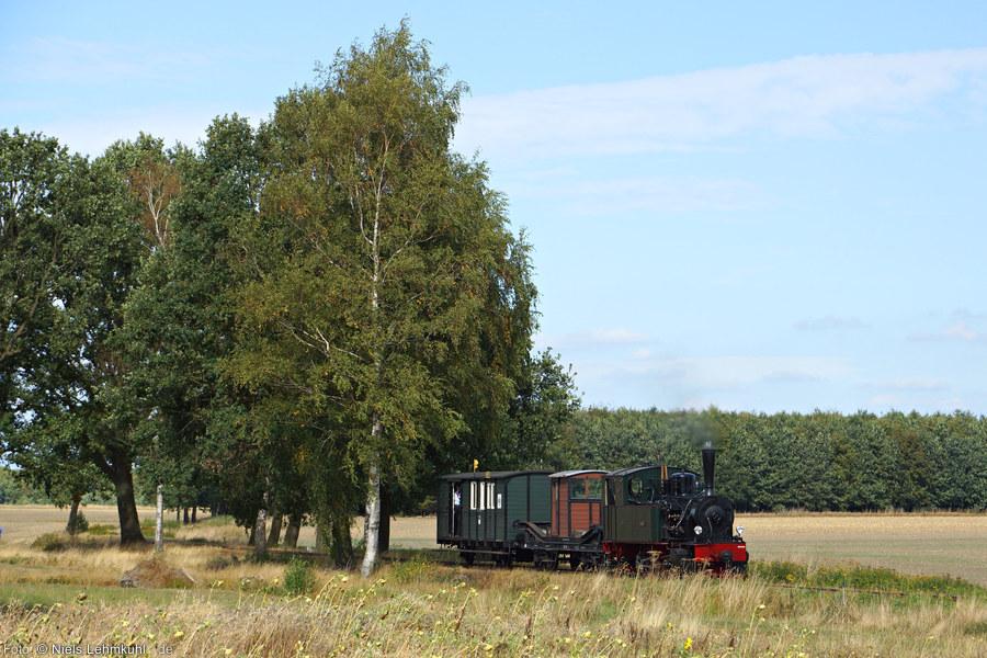 Lok Hoya fährt erneut nach Asendorf um dort Wagen abzuholen (Heiligenberg, 2018-09-09)